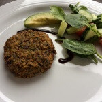 A recipe for healthy chickpea and spinach patties