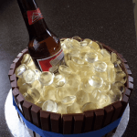 Beer in a barrel of ice cake