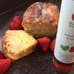 Strawberry & mint drizzle cake made with Burren Balsamic